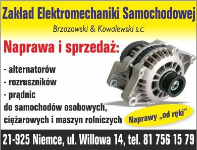 Świadczymy usługi w zakresie sprzedaży oraz naprawy alternatorów, rozruszników oraz prądnic we wszystkich typach samochodów. Na rynku motoryzacyjnym istniejemy od lat. Naszą specjalnością jest  elektromechanika samochodowa.